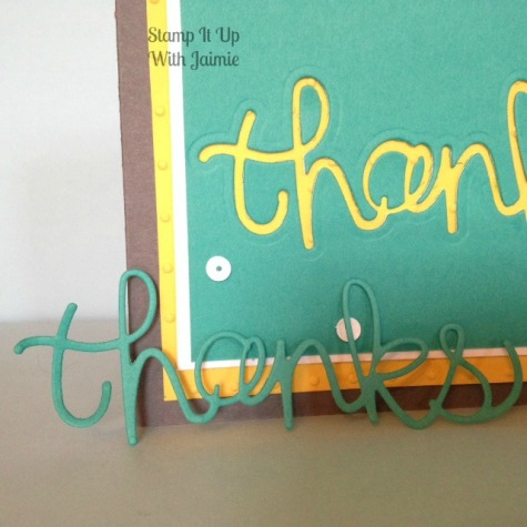 Stampin Up - Thanks - Stamp It Up With Jaimie