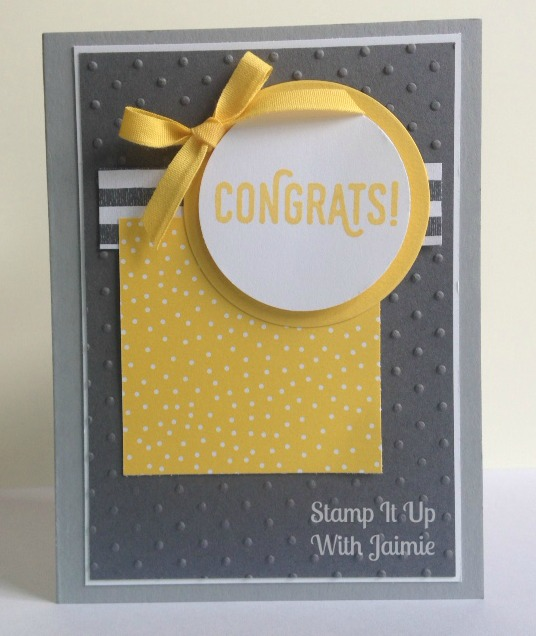 Congrats - Stamp It Up Jaimie