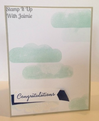 Congratulations - Stamp It Up With Jaimie - Stampin Up