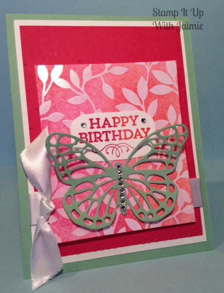Stampin Up - Mojo Monday - Butterfly - Happy Birthday
