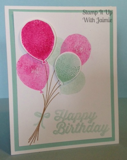 Stampin Up - Stamp It Up With Jaimie - Birthday - Balloon