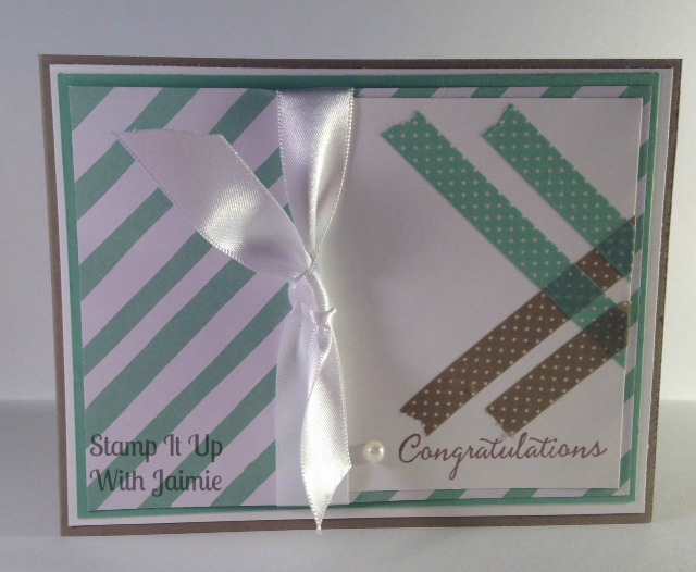 Stampin Up - Stamp It Up With Jaimie - Congratulations - Diagonal Lines - Washi Tape