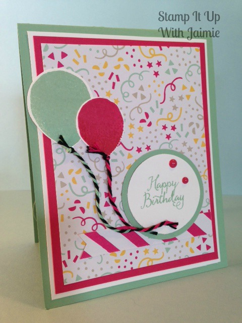 Stampin Up - Stamp It Up With Jaimie - Mojo Monday - Birthday - Balloons - It's My Party