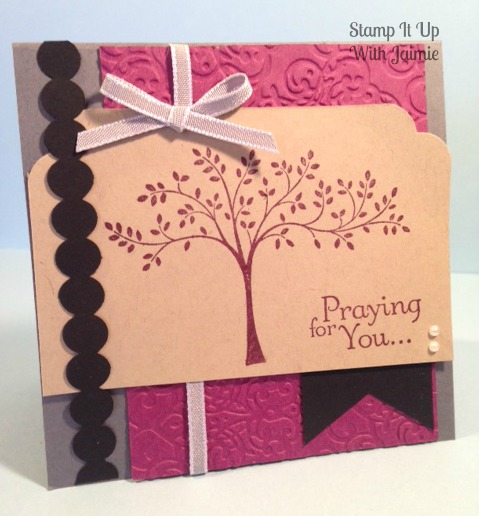 Stampin Up - Stamp It Up With Jaimie - Praying for You
