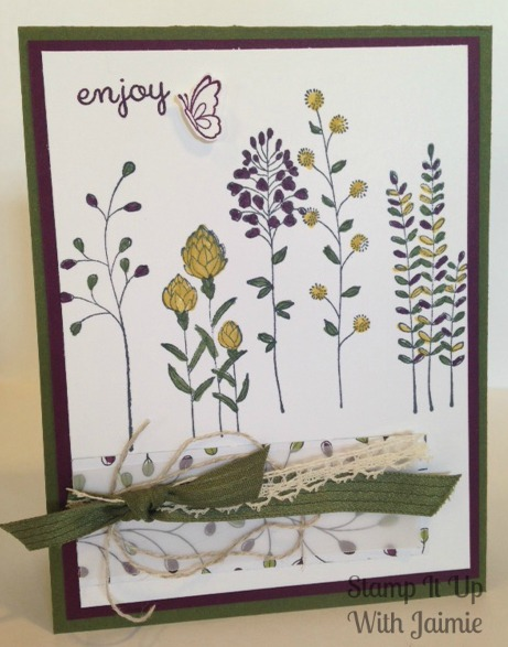 Stampin Up - Stamp It Up With Jaimie - Sale-a-bration - Spring - Enjoy