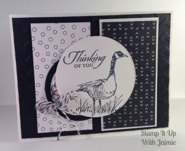 Stampin Up - Stamp It Up With Jaimie - Thinking of You - Black and White