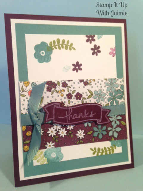 Stampin Up - Stamp It Up With Jaimie - Wildflower Fields - Thanks