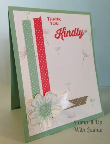 tampin Up - Stamp It Up With Jaimie - Washie Tape - Thank You - Handmade - Simple