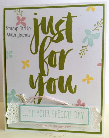 Botanicals For You - Stamp It Up With Jaimie