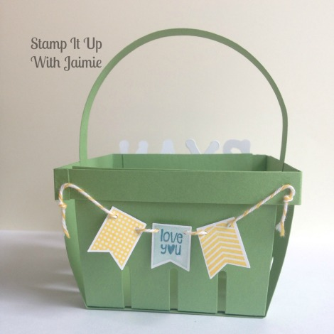 Boy Easter Basket - Stamp It Up With Jaimie