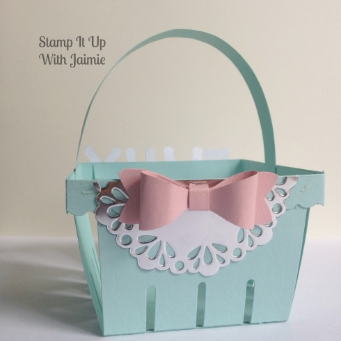 Girl Easter Basket - Stamp It Up With Jaimie