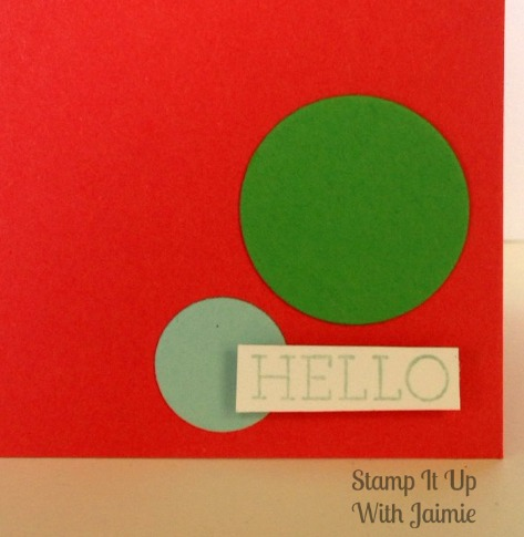Hello - Stamp It Up With Jaimie - Stampin Up