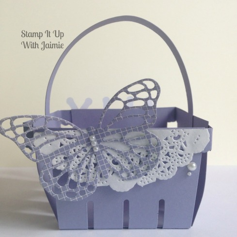 Purple Easter Basket - Stamp It Up With Jaimie