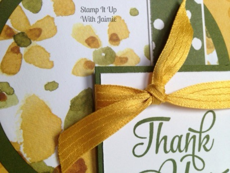 Thank You - Stampin Up - Stamp It Up With Jaimie