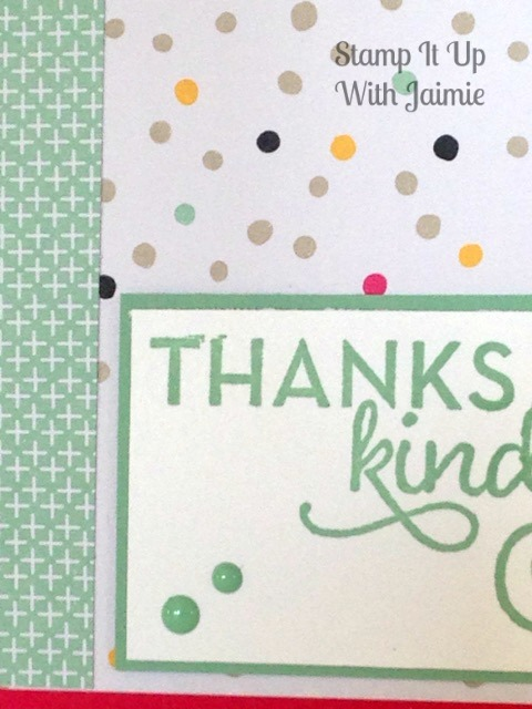 Thanks Kindly - Stamp It Up With Jaimie - Stampin Up