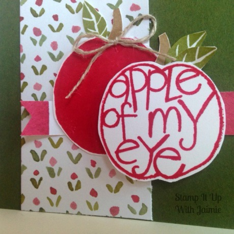 Apple of My Eye - Stampin Up - Stamp It Up With Jaimie