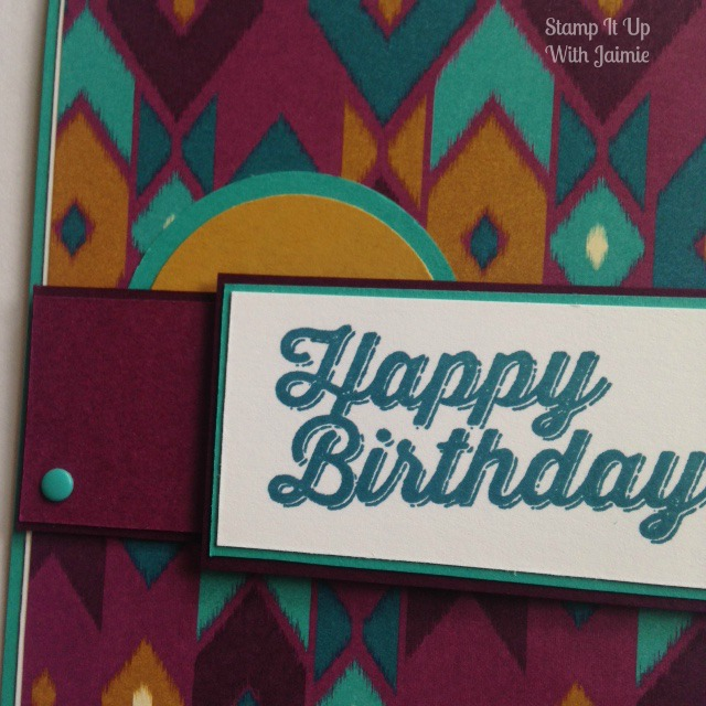 Bohemian - Stamp It Up With Jaimie - Stampin Up