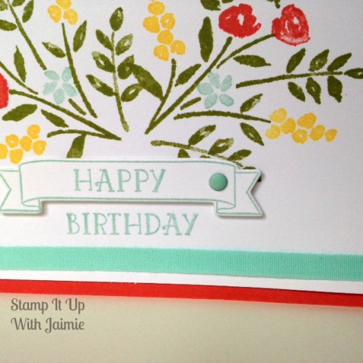 Happy Birthday - Stamp It Up With Jaimie