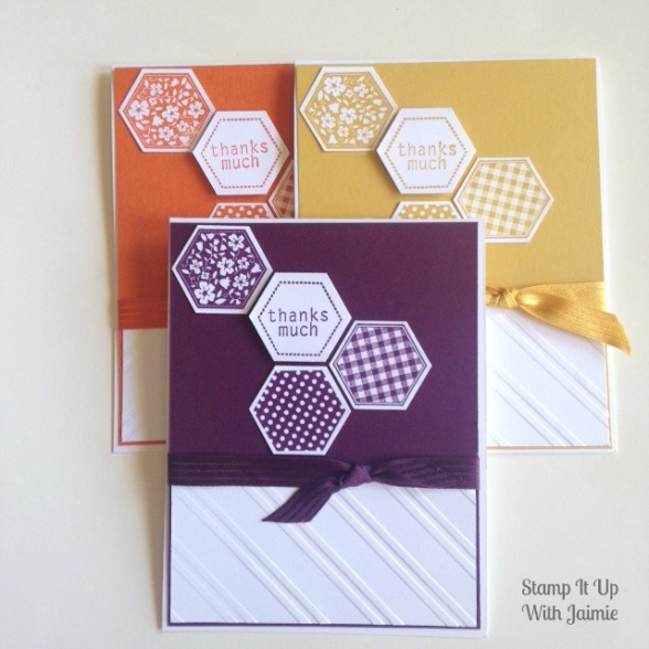 Hexagon Thanks - Stamp It Up With Jaimie - Stampin Up
