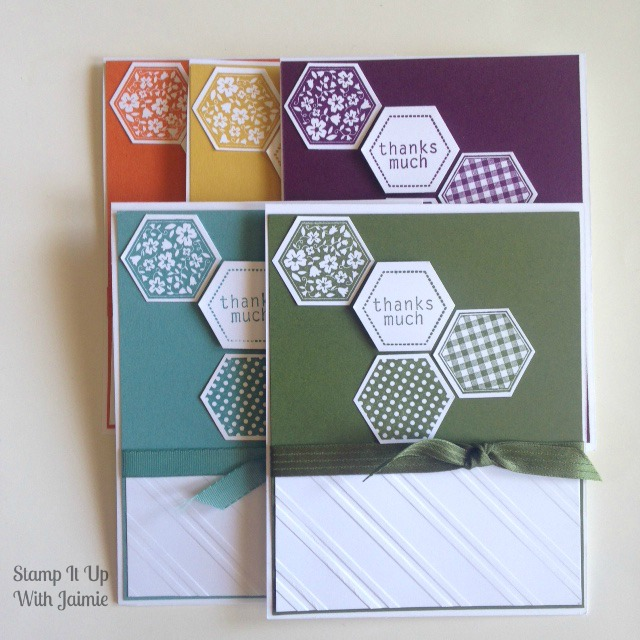 Hexagon Thanks - Stamp It Up With Jaimie