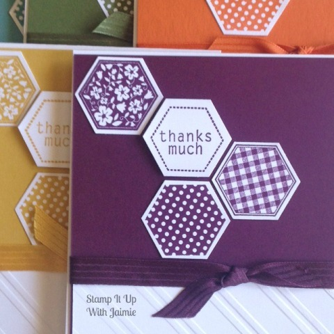 Hexagon Thanks - Stampin Up - Stamp It Up With Jaimie