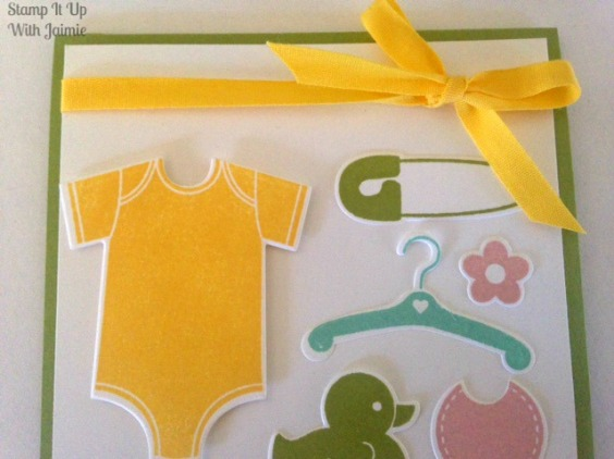 Baby's Card - Stampin Up - Stamp It Up With Jaimie