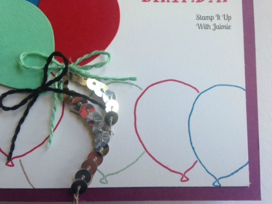 Balloon Celebration - Stampin Up - Stamp It Up With Jaimie