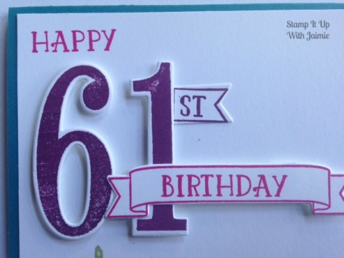 Number of Years - Stampin Up - Stamp It Up With Jaimie