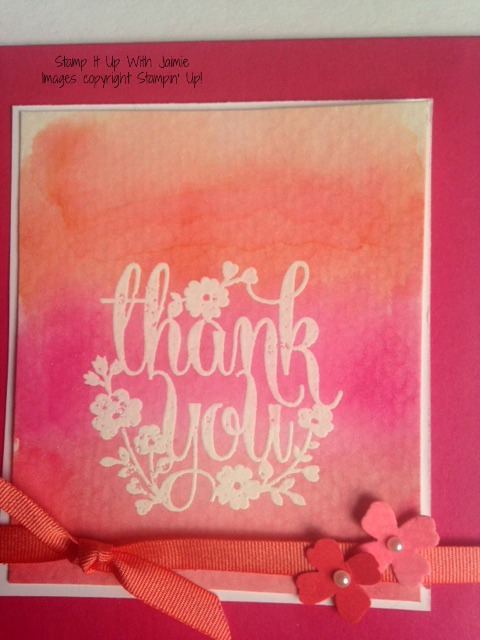 Thank You - Stamp It Up With Jaimie - Stampin Up