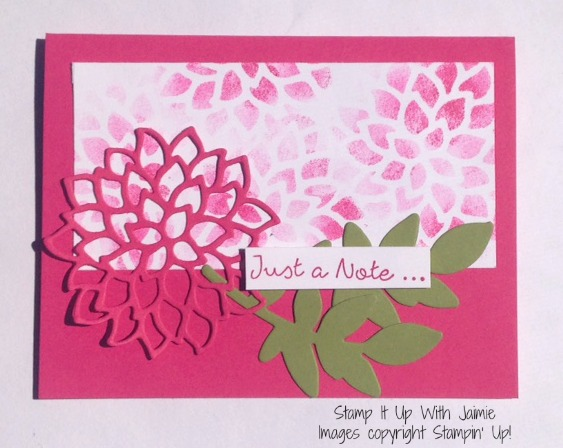 Falling Flowers - Stampin Up