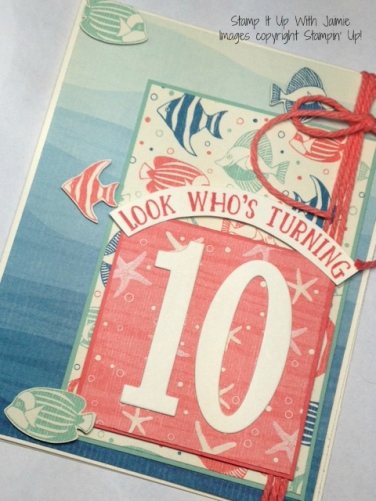 By The Shore - Stamp It Up With Jaimie - Stampin Up