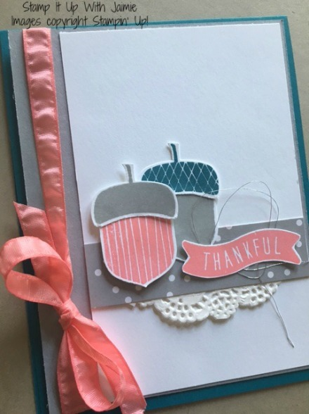 Acorny Thank You - Stamp It Up With Jaimie - Stampin Up