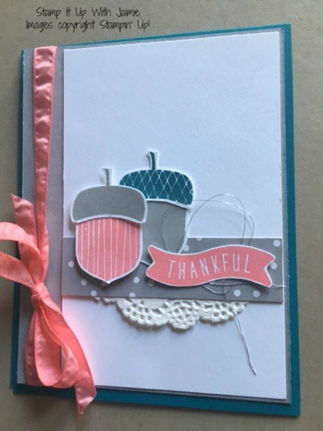 Acorny Thank You - Stampin Up - Stamp It Up With Jaimie