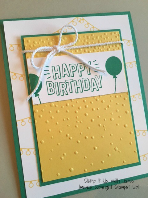 Confetti Celebration - Stampin Up - Stamp It Up With Jaimie
