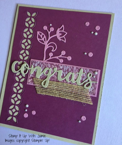 Congrats - Stamp It Up With Jaimie - Stampin Up