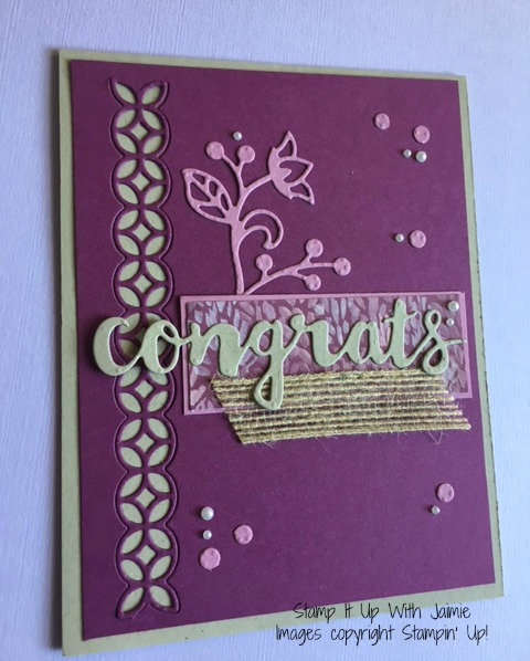 Congrats - Stampin Up - Stamp It Up With Jaimie