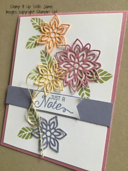 Flourish Thinlits - Stampin Up - Stamp It Up With Jaimie