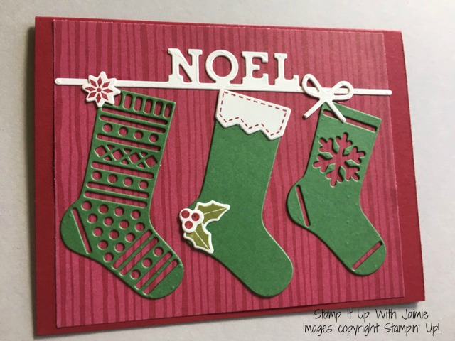 Hang Your Stocking - Stamp It Up With Jaimie - Stampin Up
