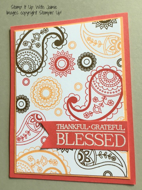 Paisleys & Posies - Stampin Up - Stamp It Up With Jaimie