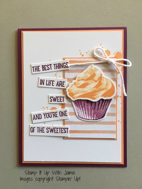 Sweet Cupcake - Stamp It Up With Jaimie