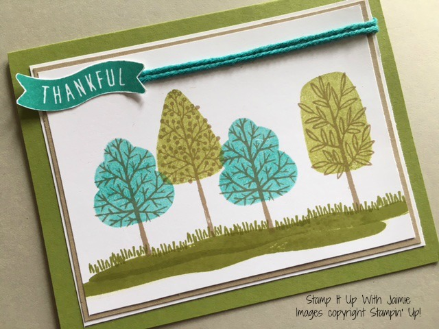 Totally Trees - Stamp It Up With Jaimie - Stampin Up
