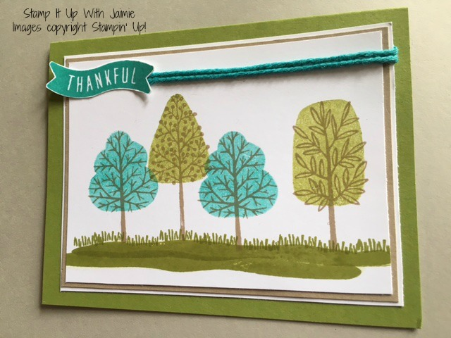 Totally Trees - Stampin Up - Stamp It Up With Jaimie