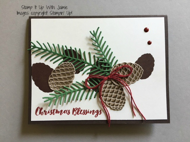Christmas Pines - Stamp It Up With Jaimie - Stampin Up