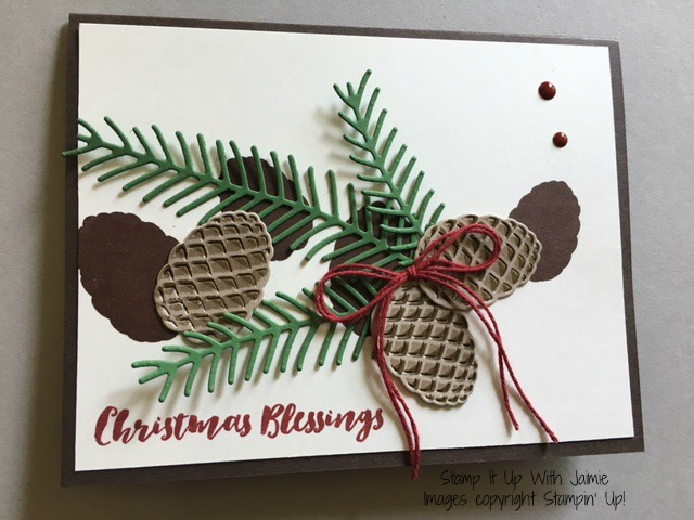 Christmas Pines - Stampin Up - Stamp It Up With Jaimie