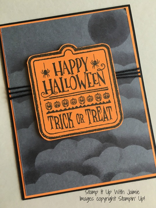 Happy Halloween - Stamp It Up With Jaimie - Stampin Up