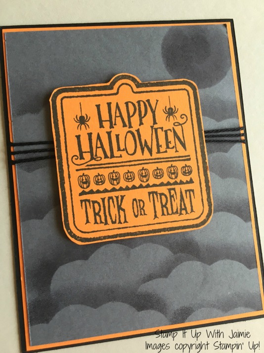 Happy Halloween - Stampin Up - Stamp It Upw With Jaimie