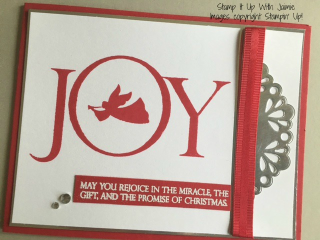 Joyful Nativity - Stamp It Up With Jaimie - Stampin Up