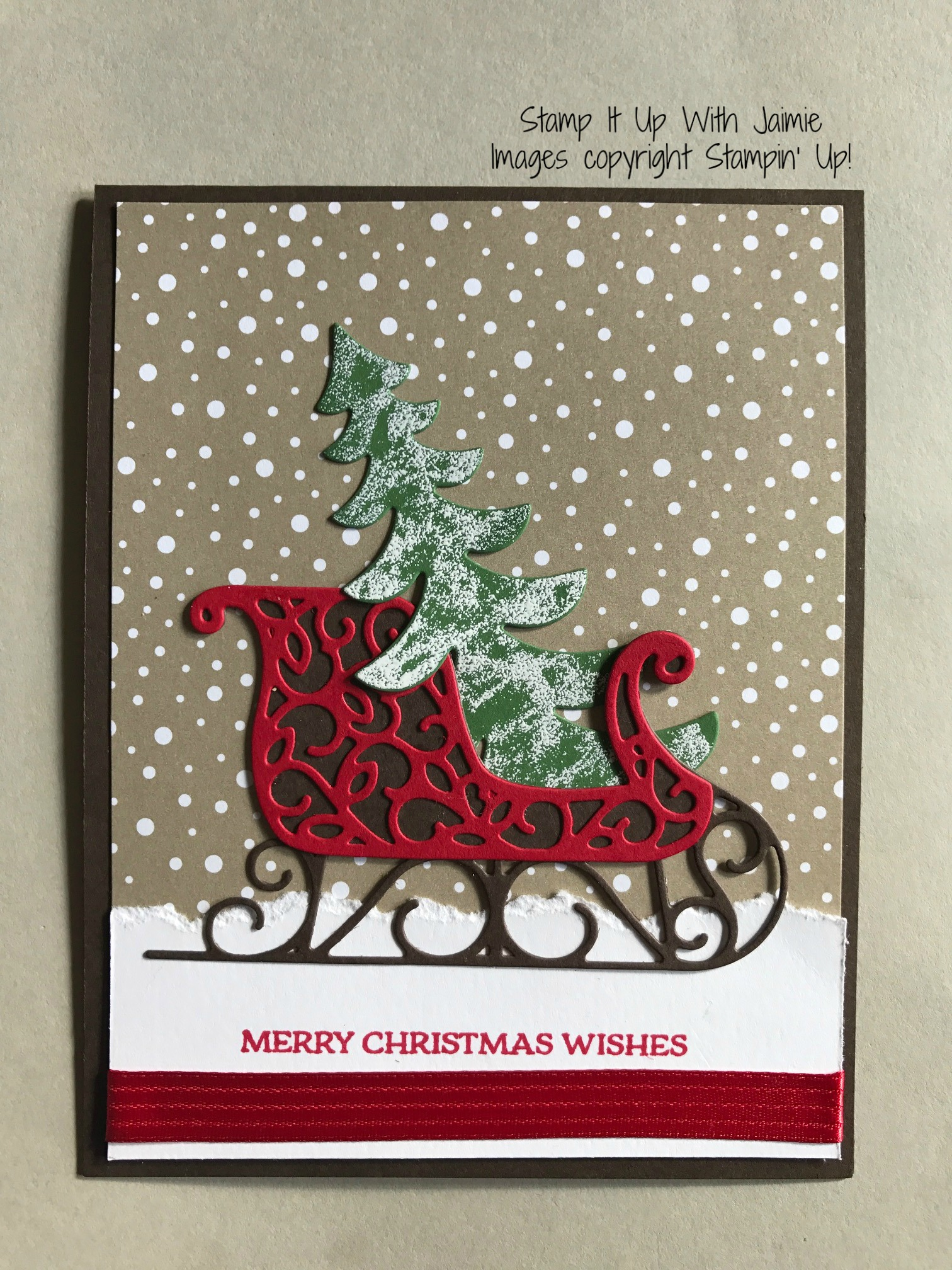 Santa S Sleigh Elegant Christmas Stamp It Up With Jaimie