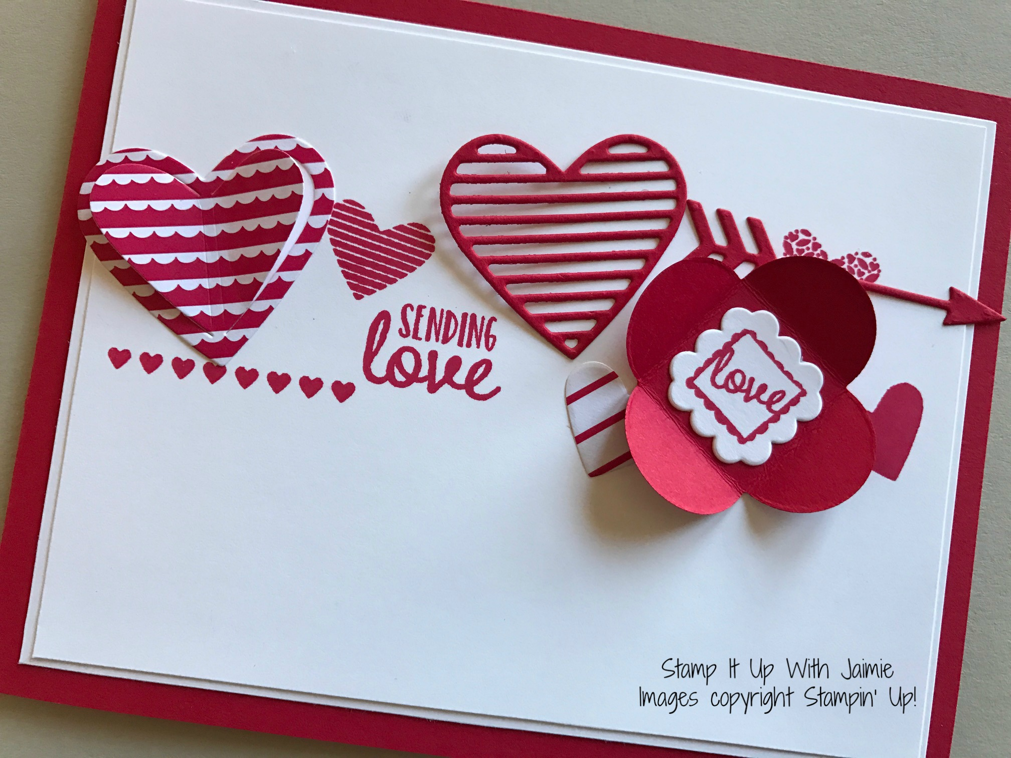 stampin up sending love stamp it up with jaimie - Stampin Up Valentine Card Ideas