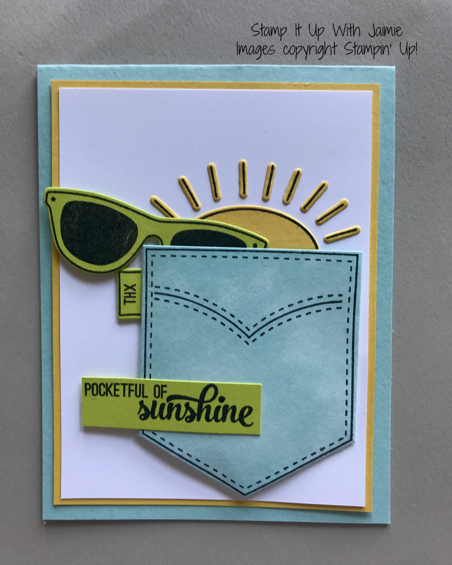 Stampin Up Pocketful Of Sunshine Stamp It Up With Jaimie